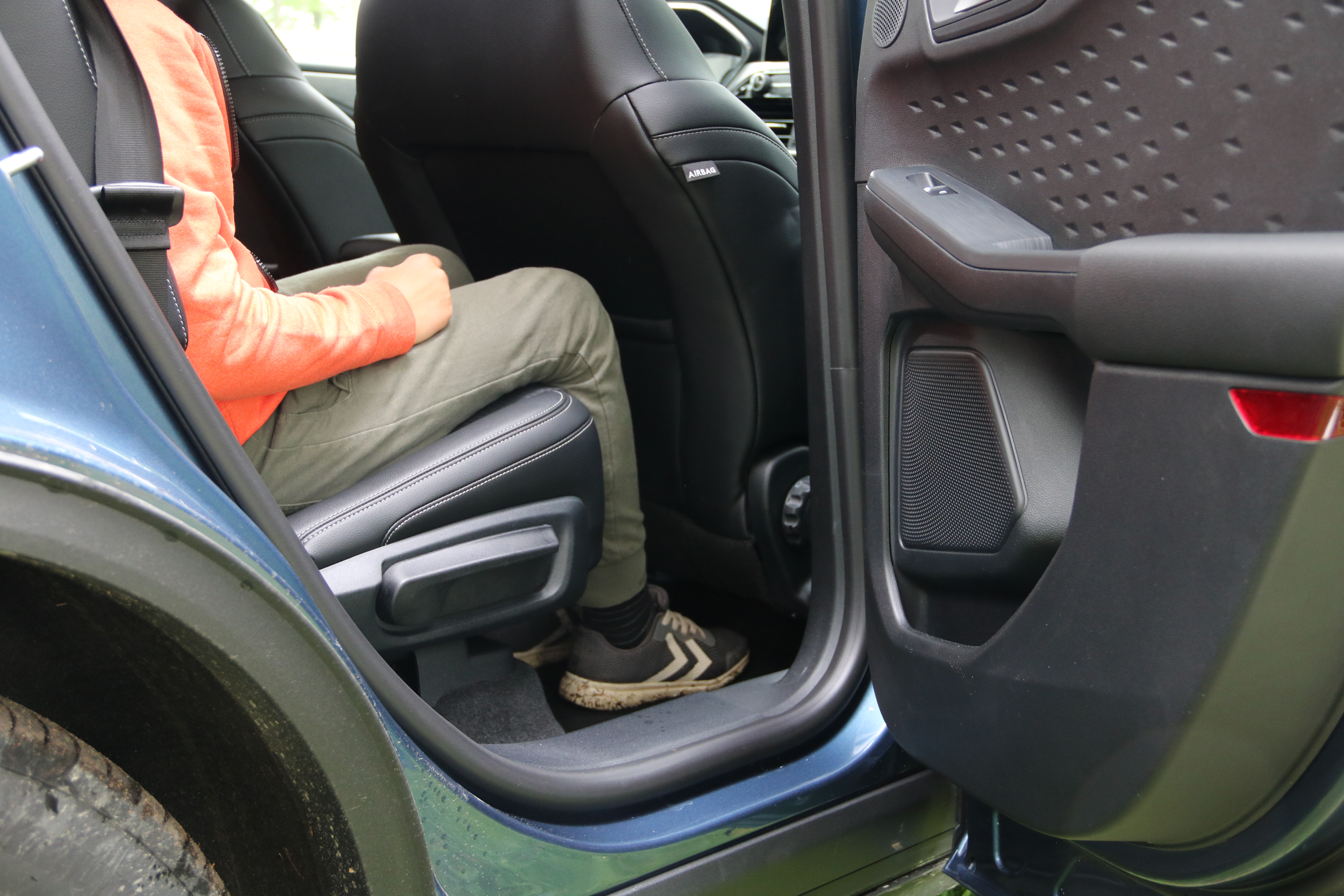 Kuga PHEV leg room when back seats are moved front