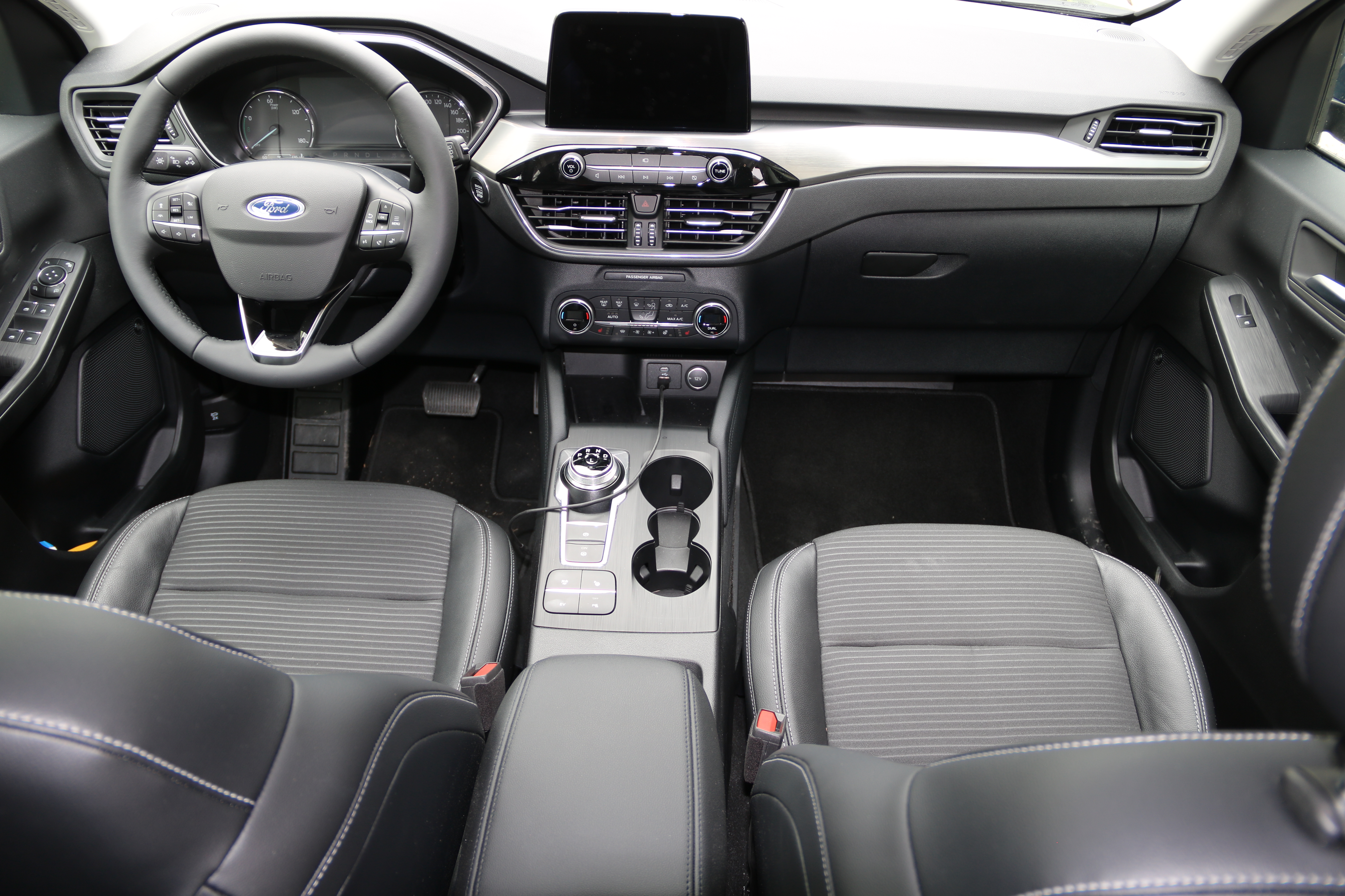 Ford Kuga PHEV Titanium front seats and dashboard