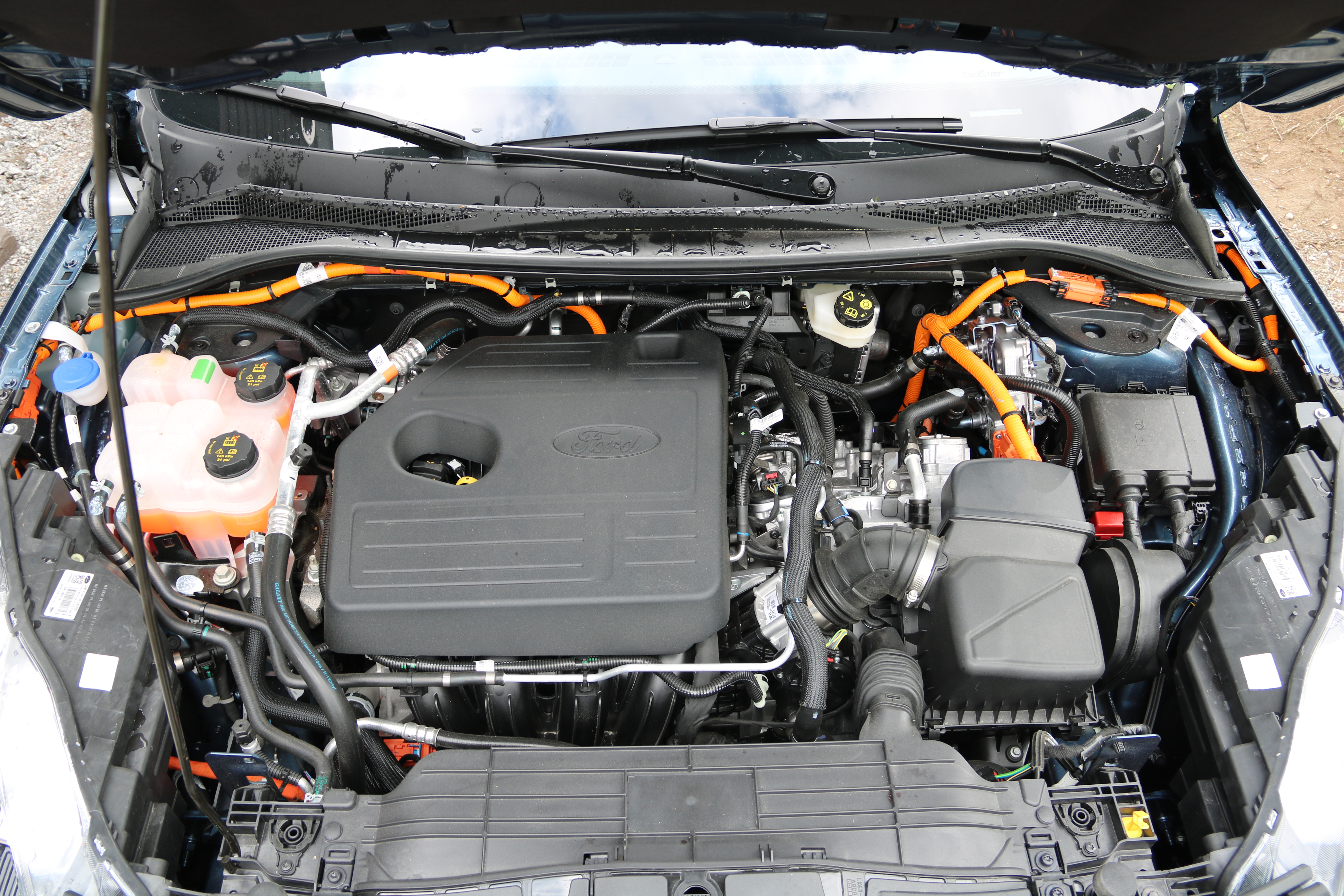 Ford Kuga PHEV engine hood open